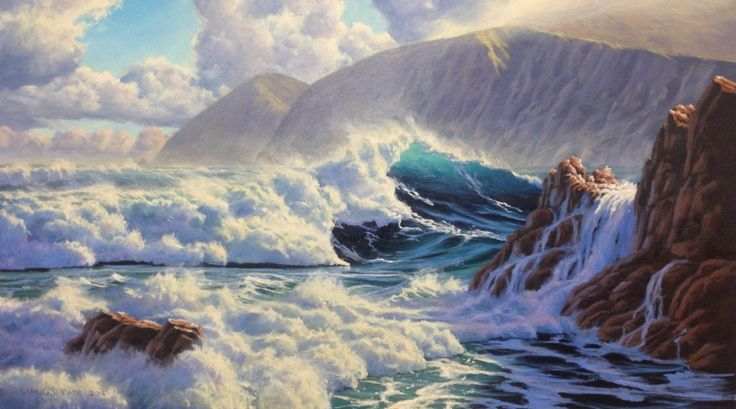 Owhiro Bay, oil on canvas, 700mm x 400mm. SOLD