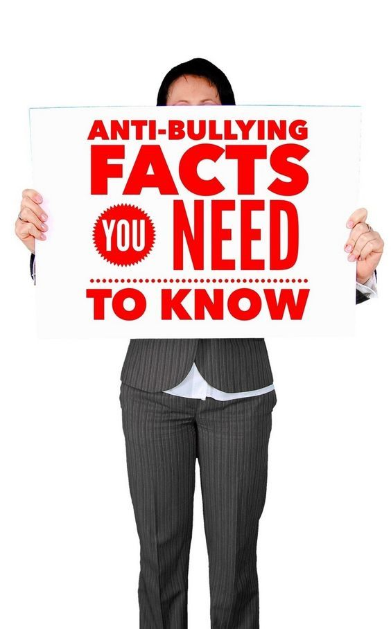 Anti-Bullying Facts to Help Your Mission to Stop Bullying Use these anti-bullying facts to help you shed light on the problem of bullying in communities and drive others to stand up and fight this ongoing epidemic.