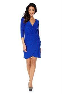 Koningsblauw jurk