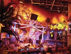 VEGAS.com - Jimmy Buffett's Margaritaville restaurant at Flamingo. Flamingo has great rates and good location. AND has Margaritaville =)
