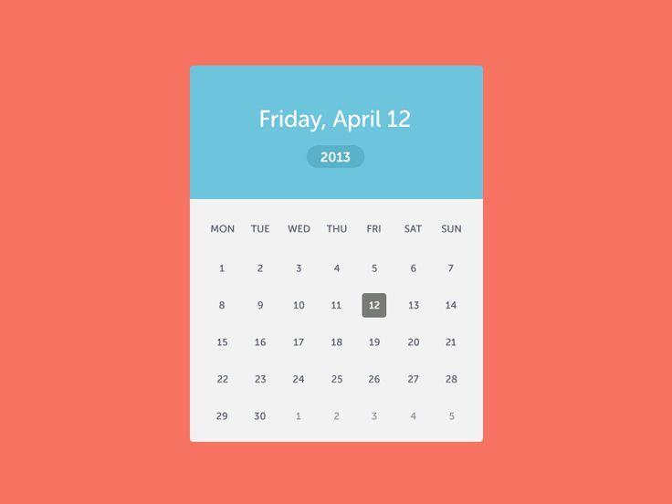 Calendar Design Date : Best images about date picker on pinterest calendar