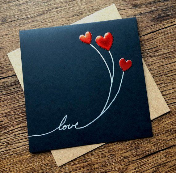 Valentine/'s Day handmade blank photo greeting card Wedding; Wedding Announcement Anniversary; Men CARD