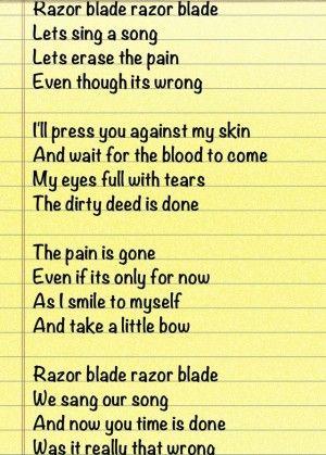 alone self harm dead awake sad quotes hurt self harm poetry poems ...