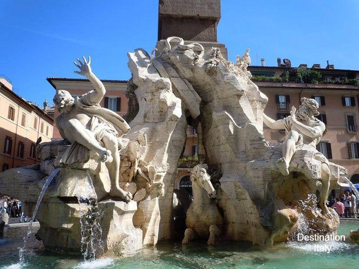 La Fontana Quattro Fiumi, Piazza Navona, Rome.