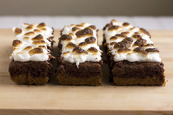 mores Brownie Bars