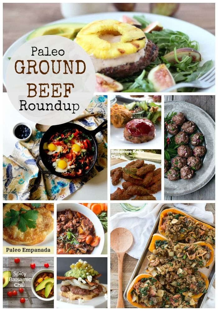 Paleo Ground Beef Recipes Roundup