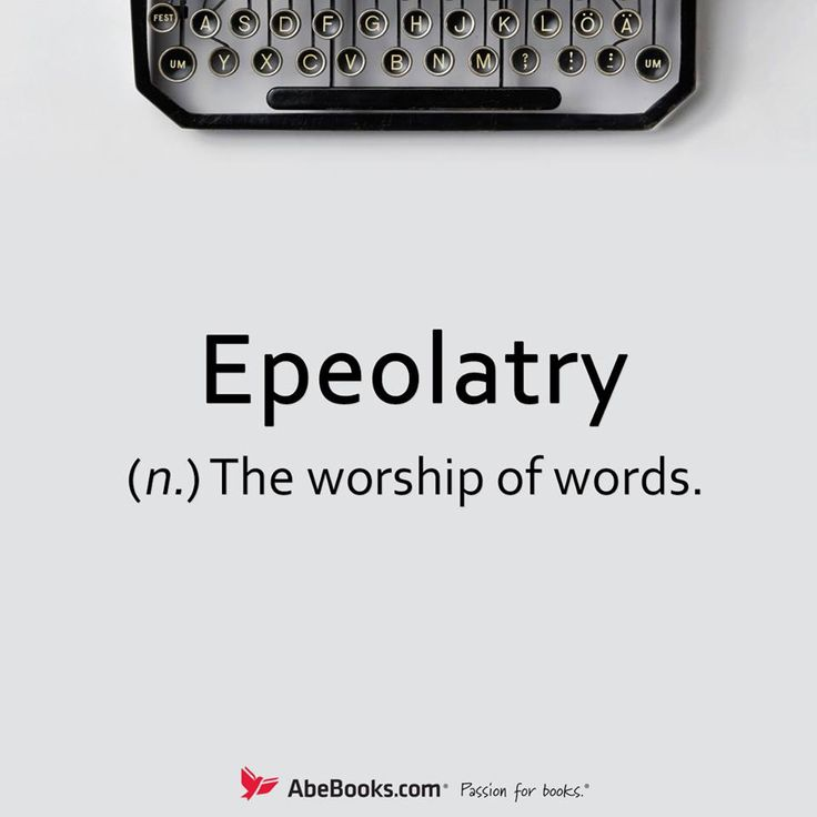 Similar to idolatry and iconodulism, epeolatry literally means the worship of words. It derives from ἔπος épos, which unlike λόγος lógos more specifically means word in Greek, and was apparently coined in 1860 by Oliver Wendell Holmes, Sr.