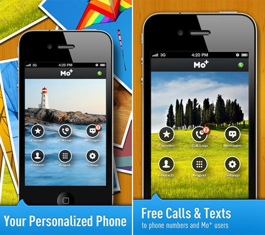 Get Free Calls and Text Messages by iPhone5 – Free Calls & Text by Mo+ iOS App