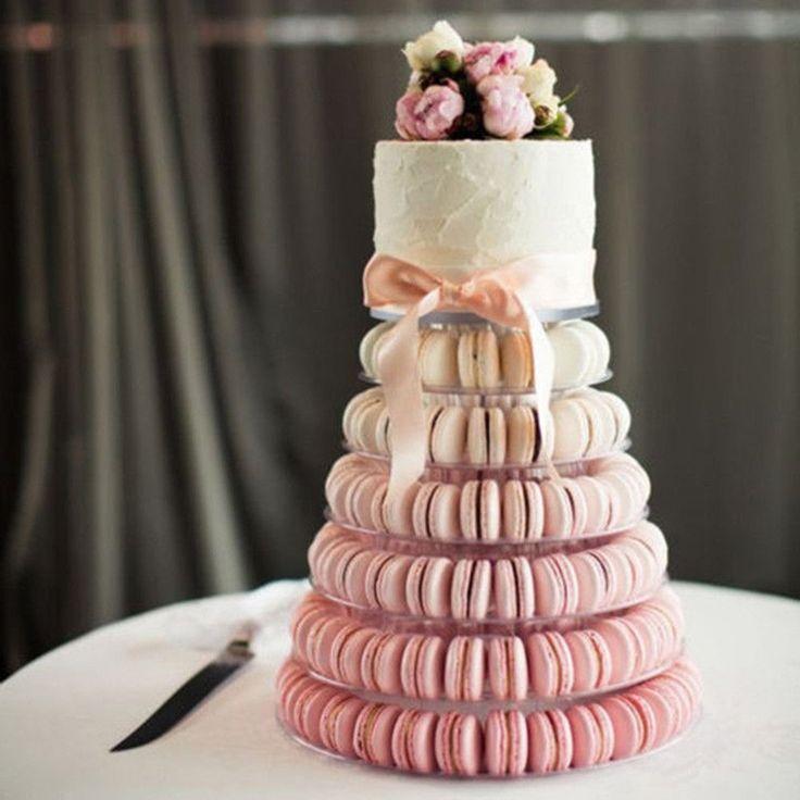 Amatt 6 tiers round macaron tower cake stand macaron