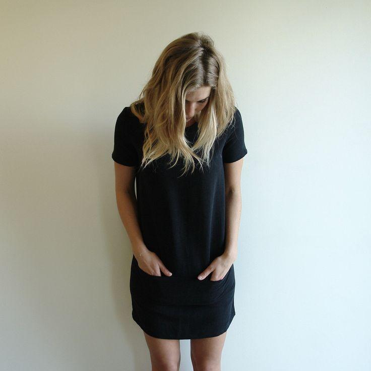 Hubertus Dress, Black