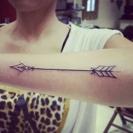 Significado de Tatuagem de Flecha Cruzada: Fotos e Desenhos