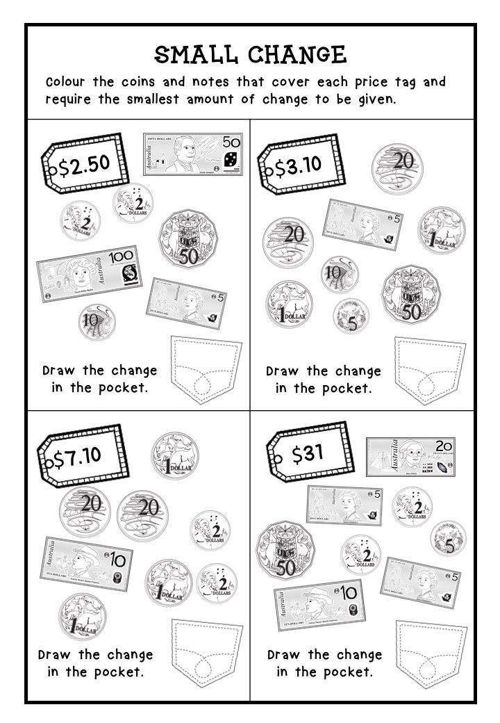 Australian Money Worksheets Higher Order Thinking Grade 3 and 4 More