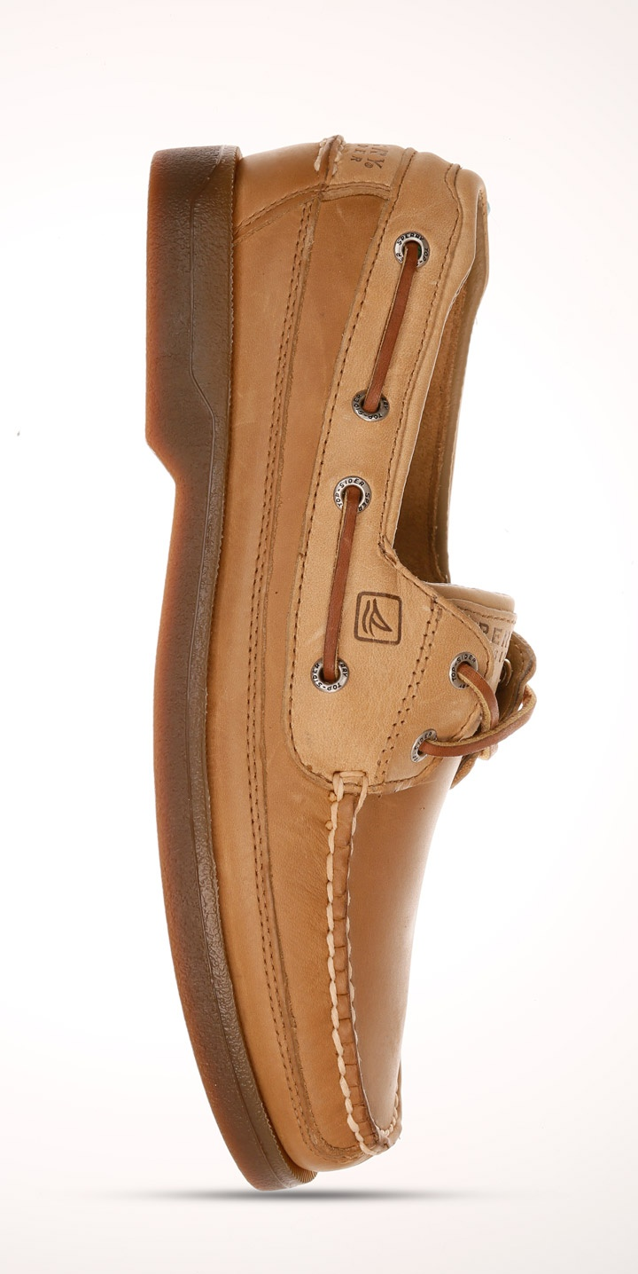 Sperry Top-Sider Men's A/O sahara brown boat shoes.