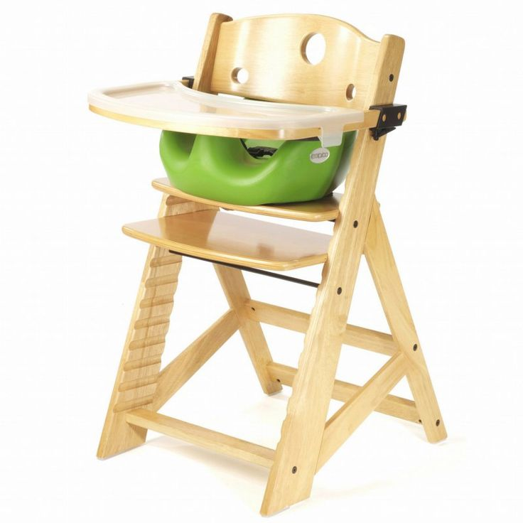 Keekaroo Height Right High Chair Natural with Lime Infant Seat & Tray - 0051403KR-0002