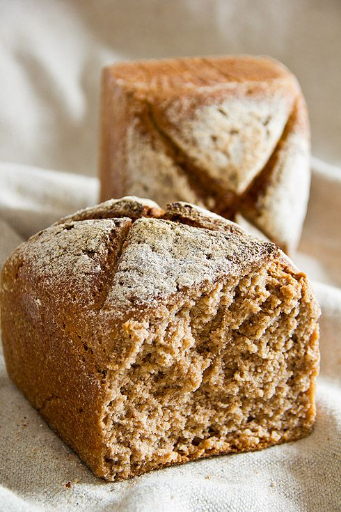 Emmervollkornbrot - Bread with whole emmer flour - old grains, 2 x overnight rise