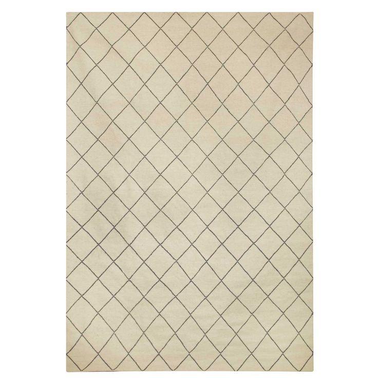 Diamond matta, vit/grå i gruppen Mattor / Mattor hos RUM21.se (131563r)