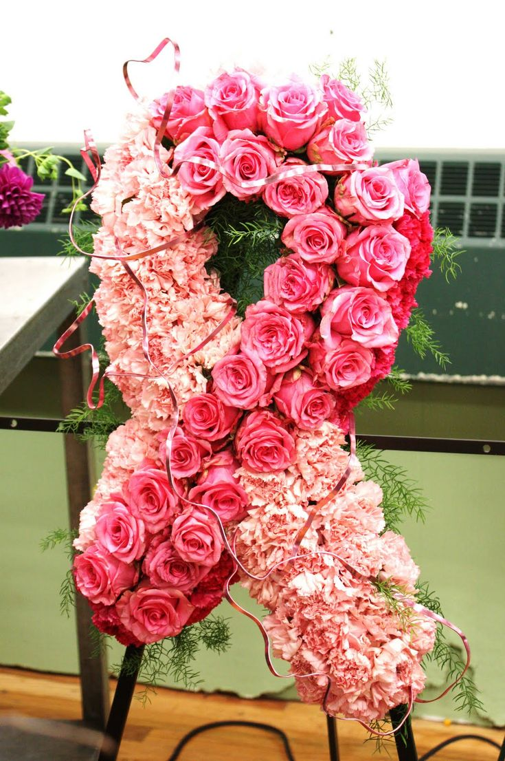 343 best sympathy flowers images on pinterest funeral flowers breast cancer memorial piece idea izmirmasajfo