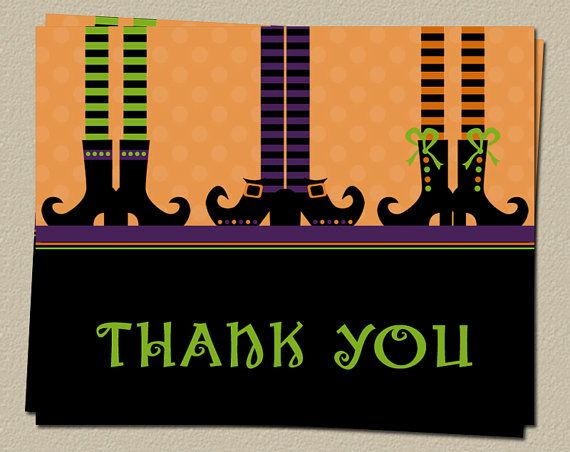 36 best images about Halloween Thank you cards on Pinterest