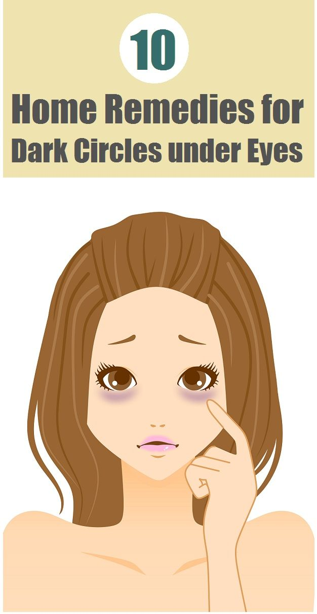 Top 10 home remedies for dark under eye circles. Much needed :)