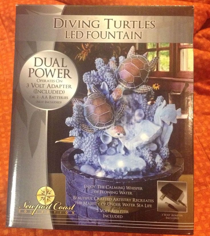 Diving Turtles Led Water Fountain Quot Sea Animals Indoor