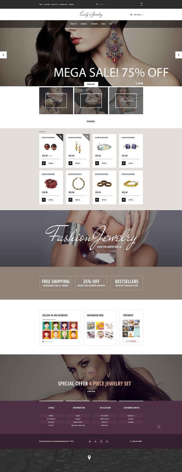 Jewelry #OpenCart #Responsive Template #53968