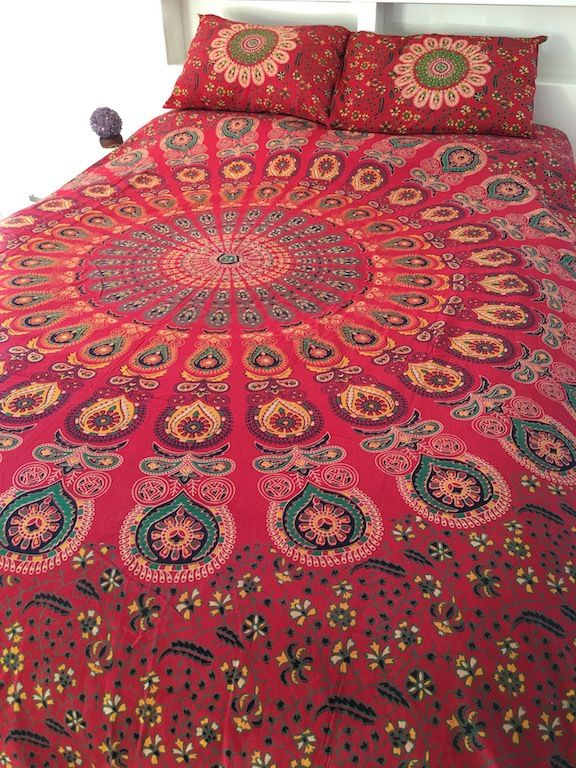 ☾❂☽ Queen Red Passion Life Quilt Set ☾❂☽ www.thirteenblessings.bigcartel.com