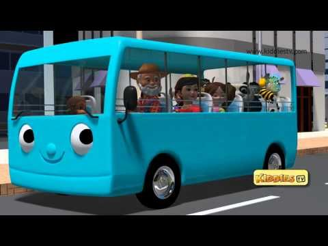 The wheels on the bus go round and round nursery rhyme - YouTube