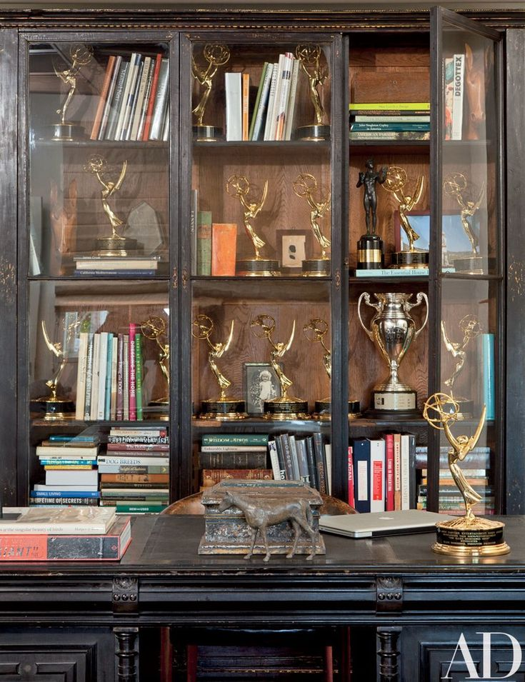 Architectural Digest featured Ellen's Perfectly Styled Bookcase in Home Office feautred on Monday Morning Coffee - Actually Ashley