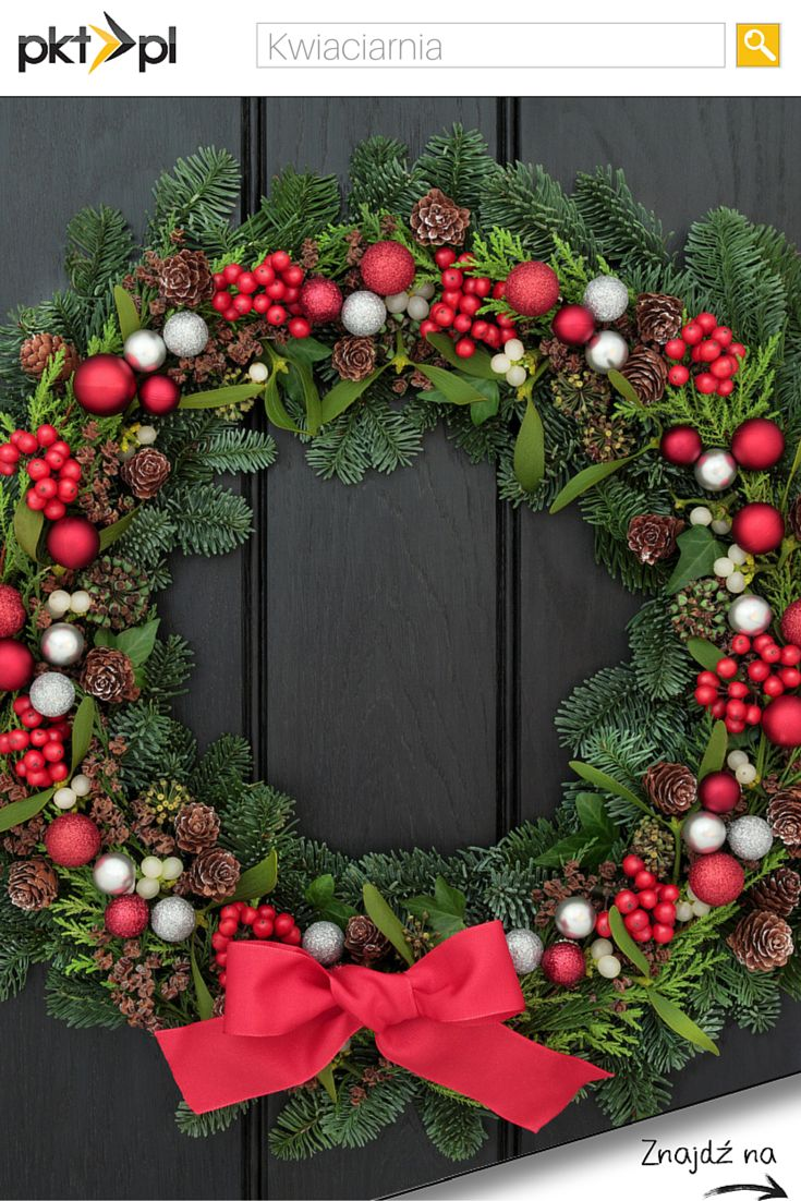 Macie już świąteczne stroiki na drzwiach? <3