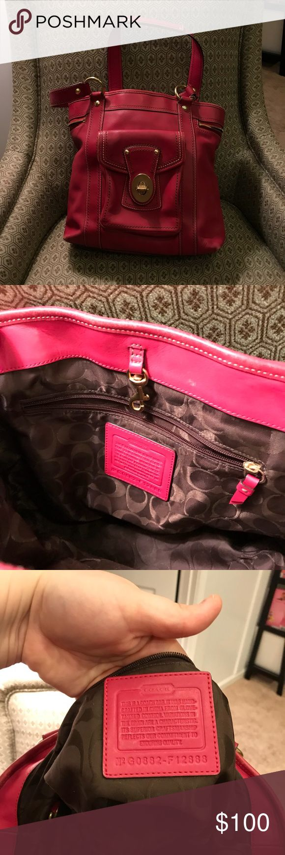 COACH LEGACY GIGI LEATHER TOTE COACH LEGACY GIGI WHISKEY LEATHER TOTE SHOULDER BAG, gently used! Coach Bags Totes