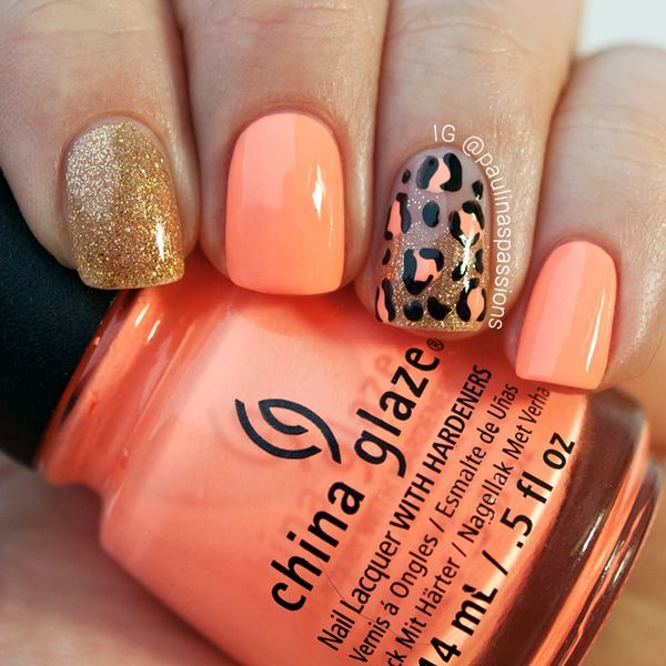 Paulina's Passions: Neon Leopard Print Nails
