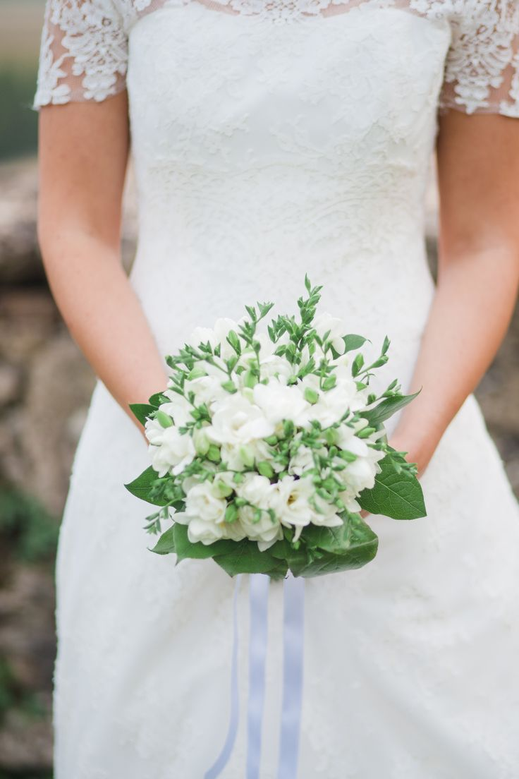 White Fresia bouquet
