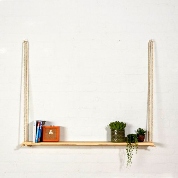 Reclaimed Pallet Wood Hanging Shelf by SunnySideInteriors on Etsy