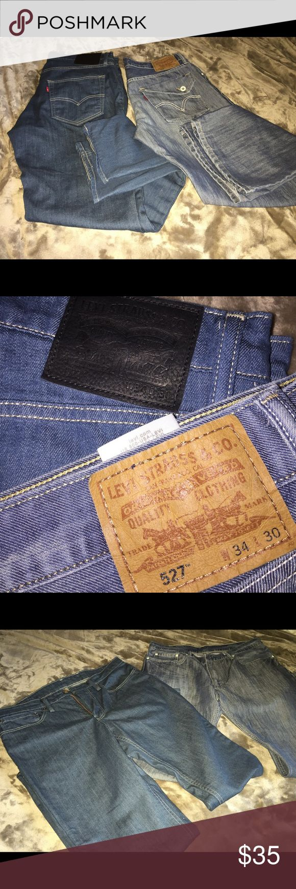 Mens Levi's jeans Bundle of Levi's jeans in wonderful condition. Both are size 34x30. One pair are 511 Straight leg and the other 527 Boot Cut Levi's Jeans
