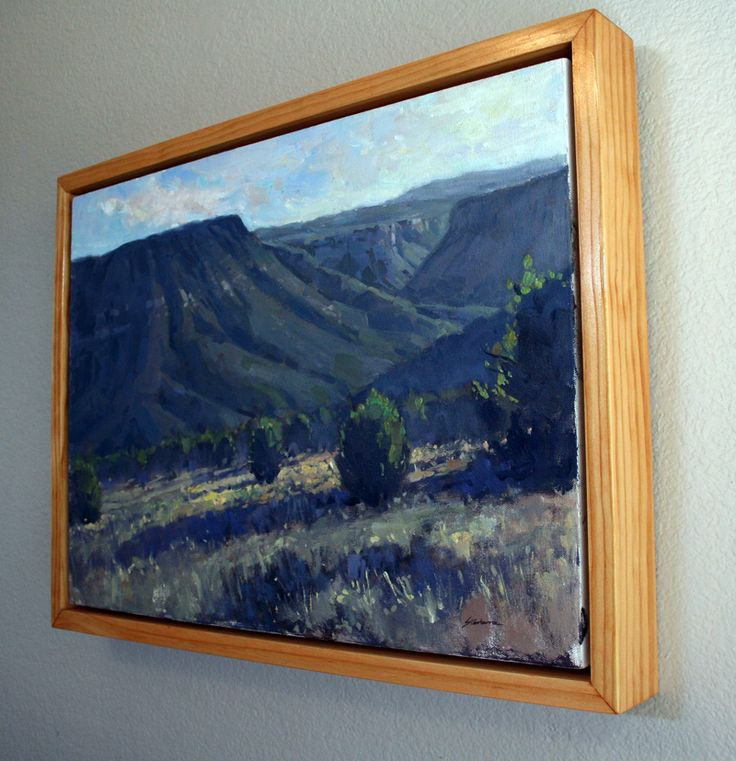 Matt Sterbenz Fine Art: How to Make Simple Floater Frames for your Plein Air Paintings