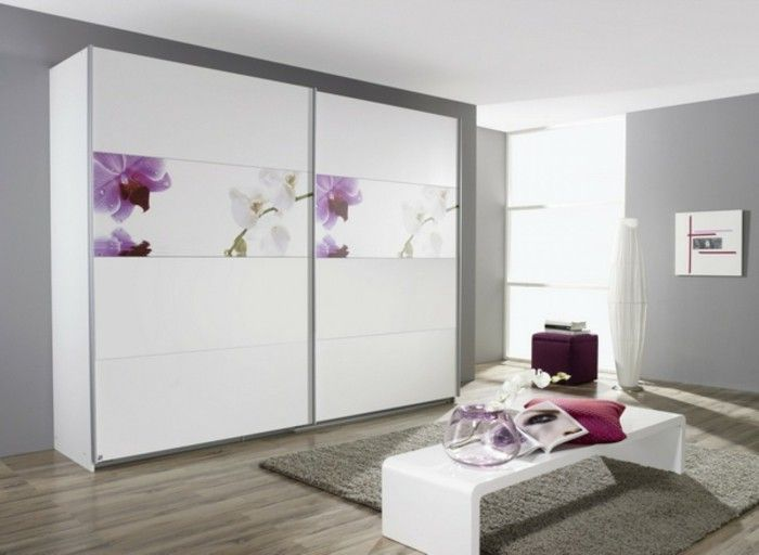 Wardrobe sliding doors white front page bedroom Bank