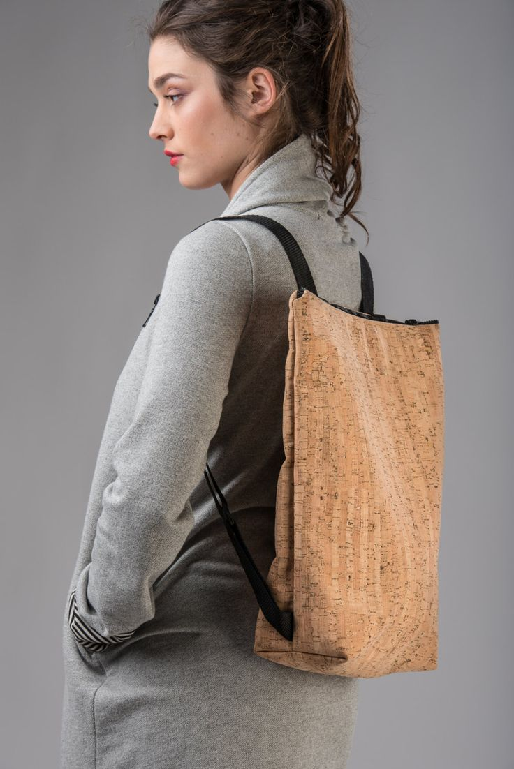 Cork backpack with zip by Lovecuts2013 on Etsy