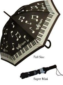 Adult Unique & Novelty Piano Musical Umbrella