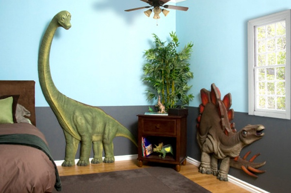 Dinosaurs!  How fun would this be if your little wasn't afraid of them?  beetling.com