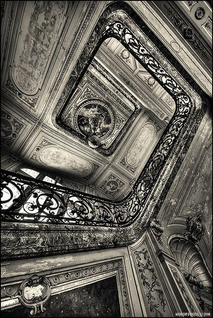 Castle of Aubiry - Stairs by Midnight - digital on Flickr.