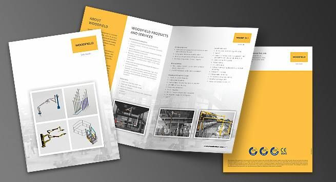 Designing Printing Of One Fold Brochure For Manufacturing Company Brochure Print Printing Business Cards Printing Solution