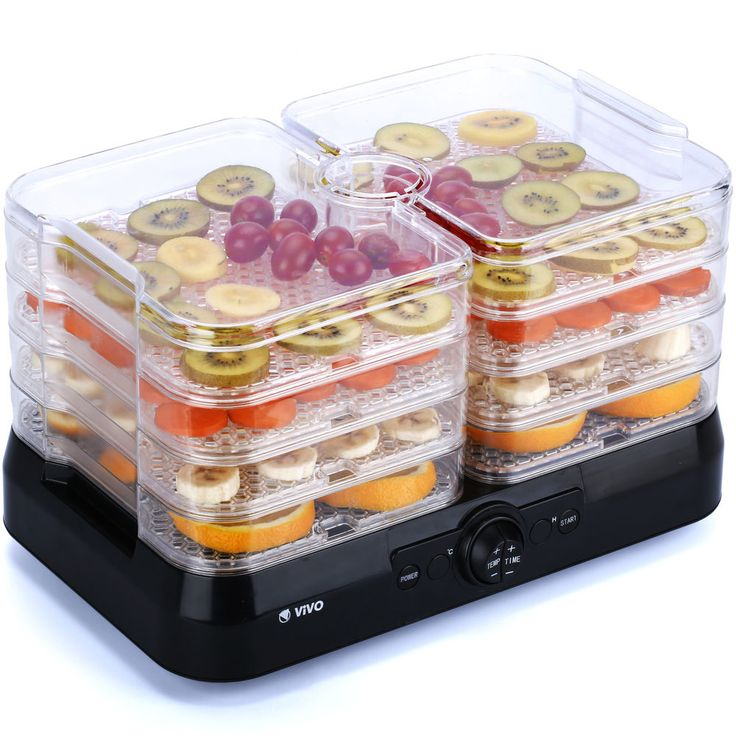 Professional 4 Tray Food Dehydrator Plus Fruit Dryer Machine Thermostat Control #Vivo