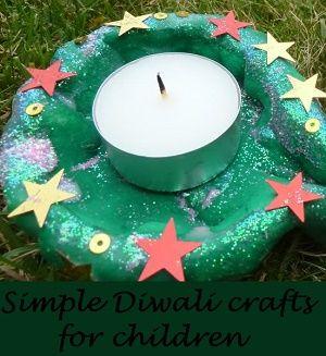 Simple Diwali crafts for children