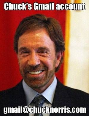 Chuck Norris's Email: is listed (or ranked) 8 on the list The 50 Funniest Chuck Norris Jokes of All Time
