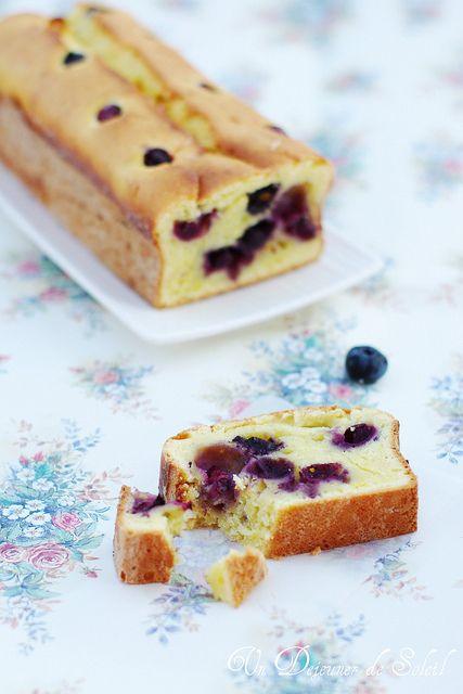 Cake léger à la ricotta, myrtilles et citron (sans beurre)