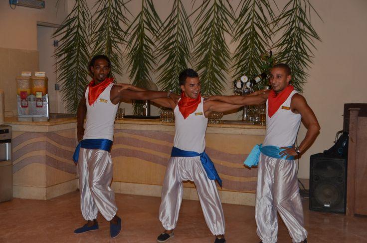 Animation team dancing the Sirtaki.