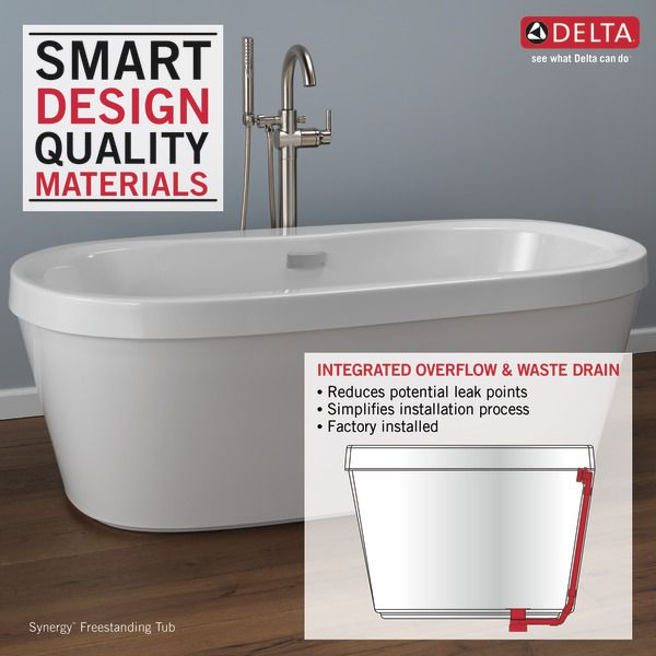 B14416 6032 Wh Free Standing Bath Tub Free Standing Tub Home Depot Bathroom
