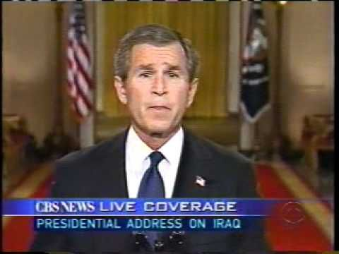 As I report to you, air attacks are underway against military targets in Iraq. We are determined to knock out Saddam Hussein's nuclear bomb potential. We wil...
