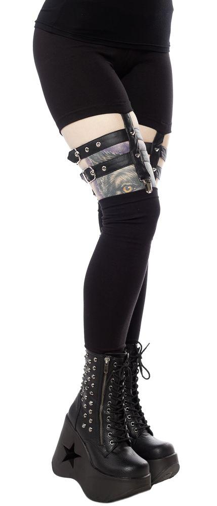 VIXXSIN TEMPTATION LEGGINGS $32.00 #vixxsin #leggings #goth #harness