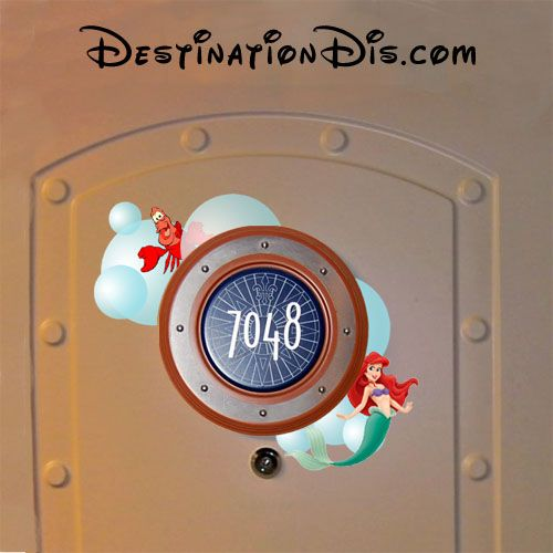 Free printable Little Mermaid door magnet for your Disney
